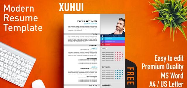 Contoh CV template Word yang ketiga adalah Xuhui