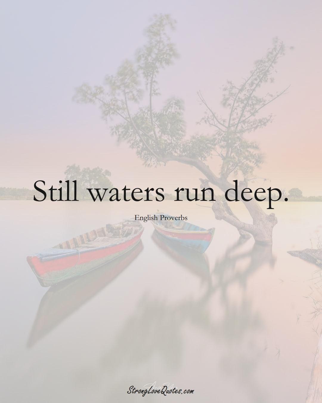 Still waters run deep. (English Sayings);  #EuropeanSayings