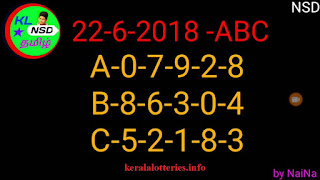 keralalotteries.info Kerala lottery Guessing by raja naina Nirmal NR-74 on 22-06-2018 in Kerala lottery prediction and guessing