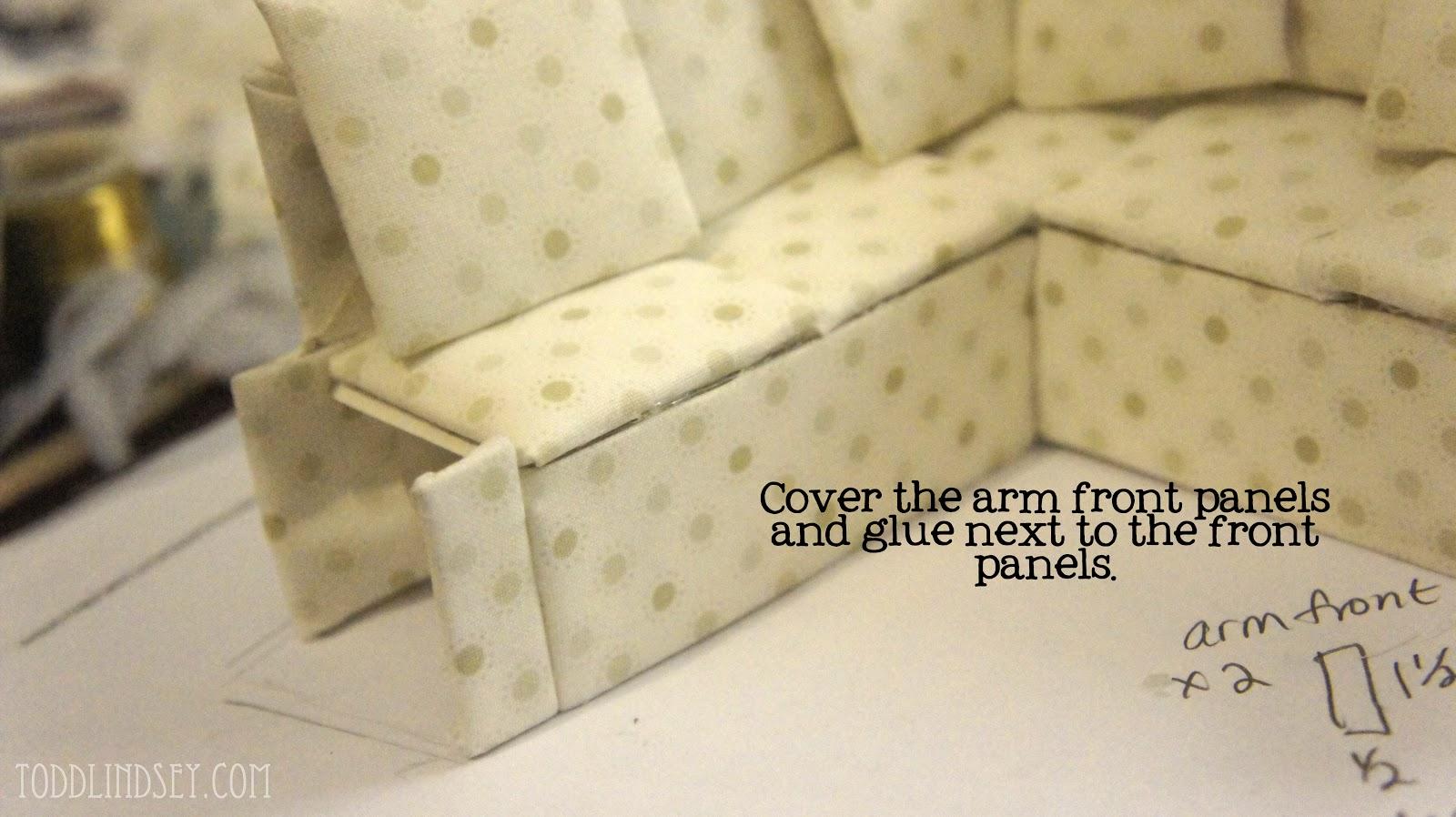 dollhouse miniature sectional sofa z gallerie graham slipcovered domer home: diy