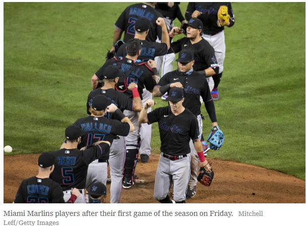 Miami Marlins Game Postponed After Several Positive Virus Tests At least 14