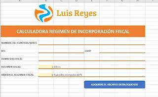 Calculadora RIF - Régimen de incorporación Fiscal