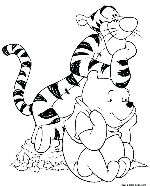 Tigger y Winni para colorear