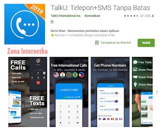 TalkU: Telepon+SMS Tanpa Batas