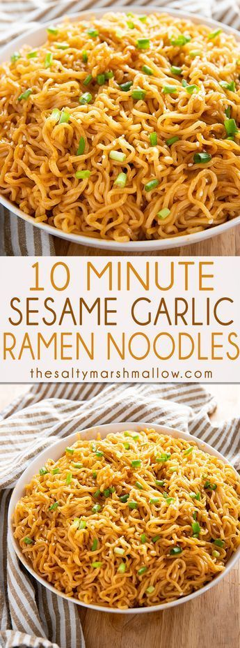 SESAME GARLIC RAMEN NOODLES RECIPE