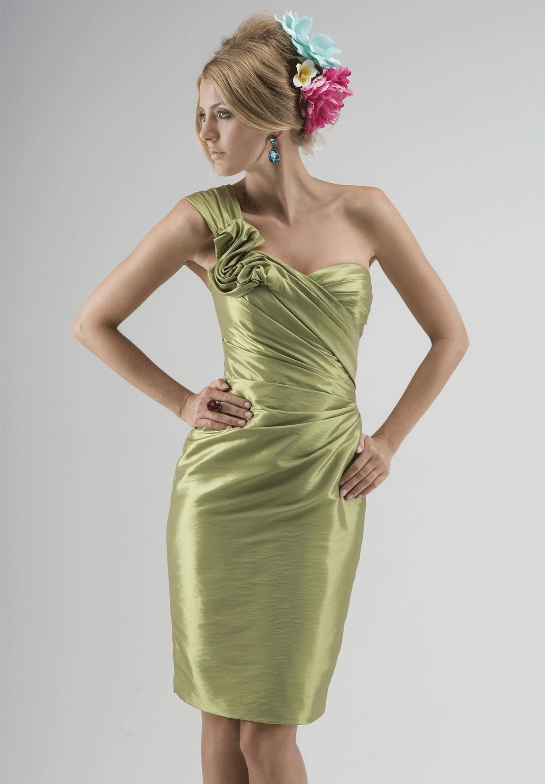 WhiteAzalea Bridesmaid Dresses: One Shoulder Bridesmaid ...
