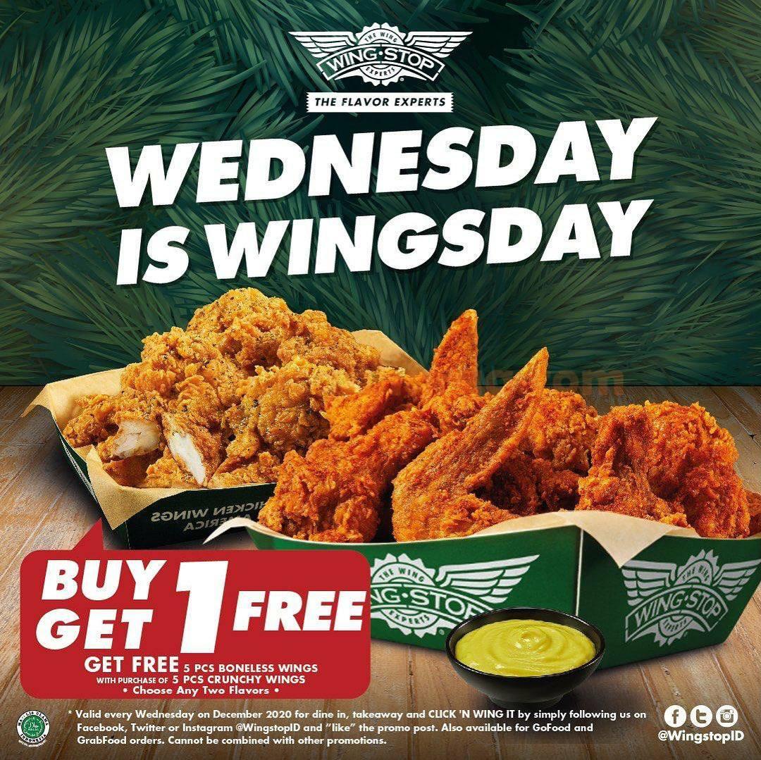 Wingstop Wednesday Is Wingsday – Promo Tiap Rabu BELI 1 GRATIS 1