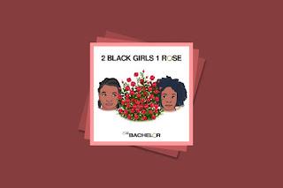 2 black girls. 1rose