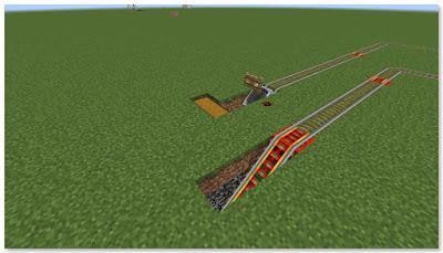 Minecraft トロッコ輸送 積み込み駅 複線 地下化①
