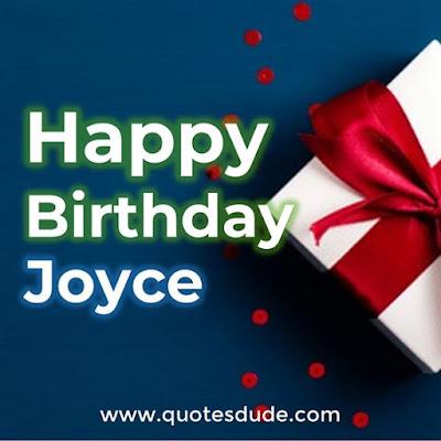 Happy Birthday Joyce - Message, Quotes & Cake Image