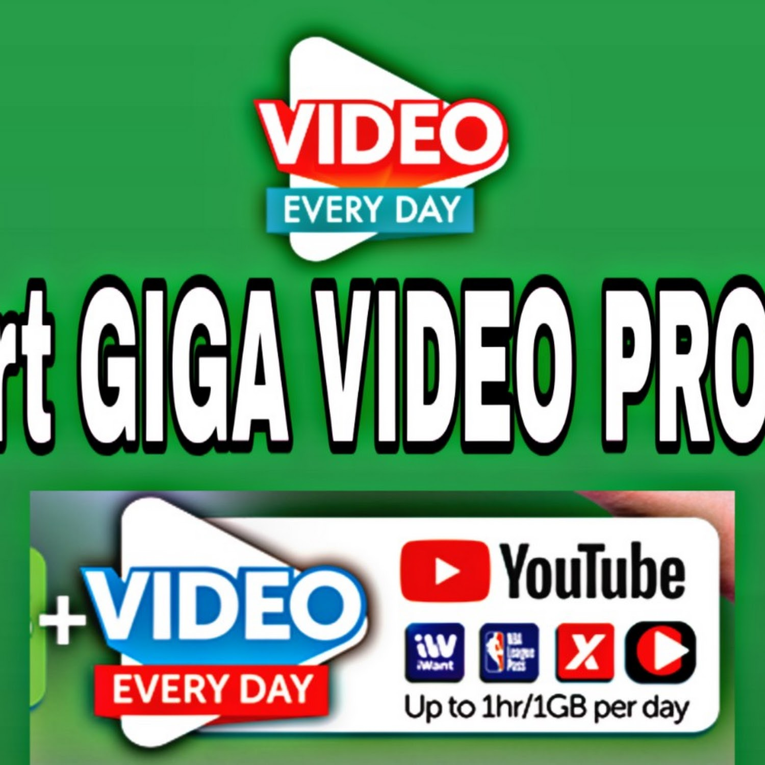 Smart GIGA VIDEO Promos: Mobile Data + Free 1GB/day Video