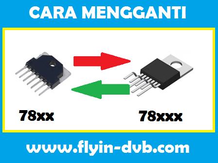 Cara-mengganti IC Vertikal seri 7840 7841 dengan seri 78040 78041 78141