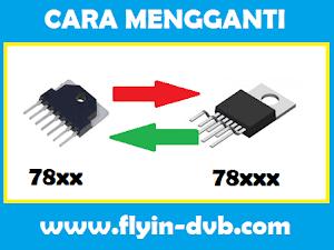 Cara Mengganti IC Vertikal Seri 7840 7841 dengan Seri 78040 78041