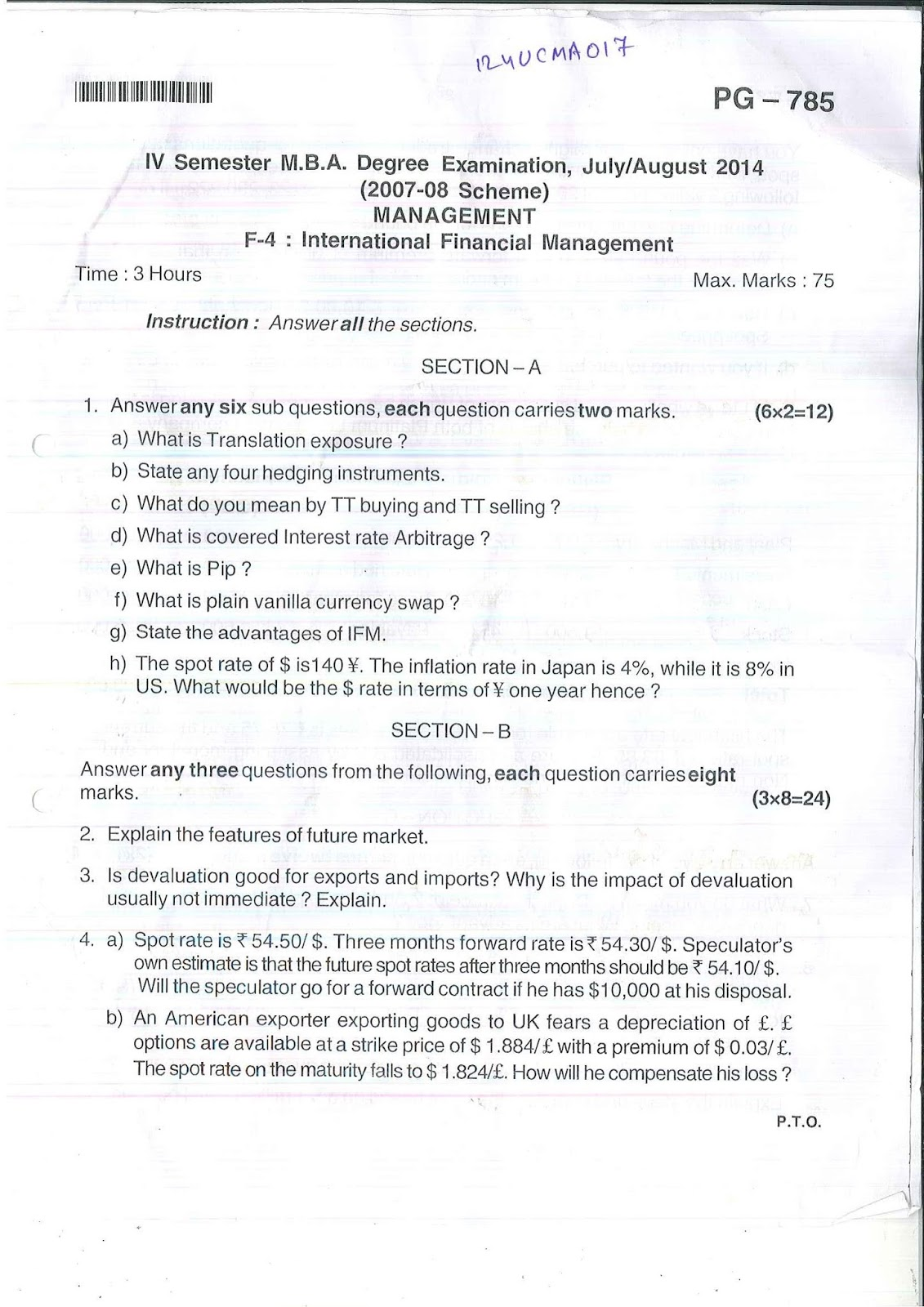 Mg university mba question papers download