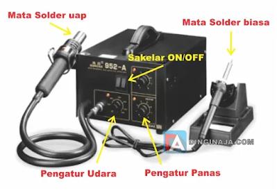 bagian-bagian solder uap