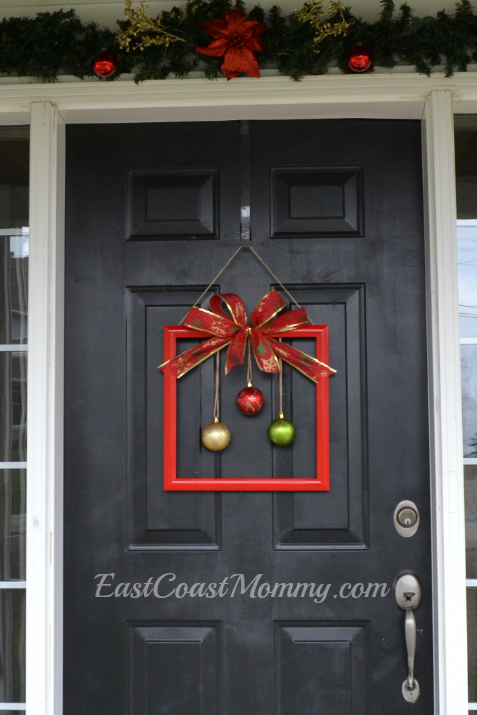 What Do You Have Hanging On Your Front Door For Christmas? I Highly  Recommend Giving This Simple DIY Square Wreath A Try. Itu0027s Easy,  Inexpensive, Fun, ...