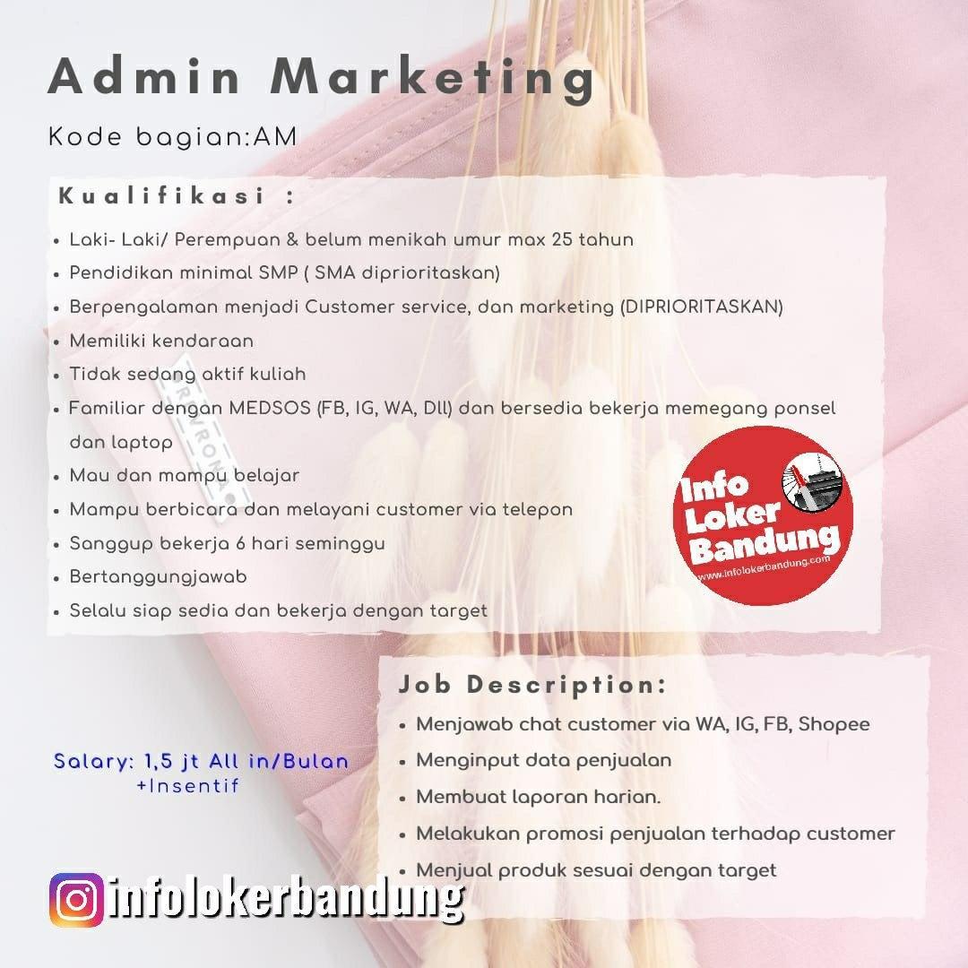 Lowongan Kerja Admin Marketing Revrona Bandung Maret 2020