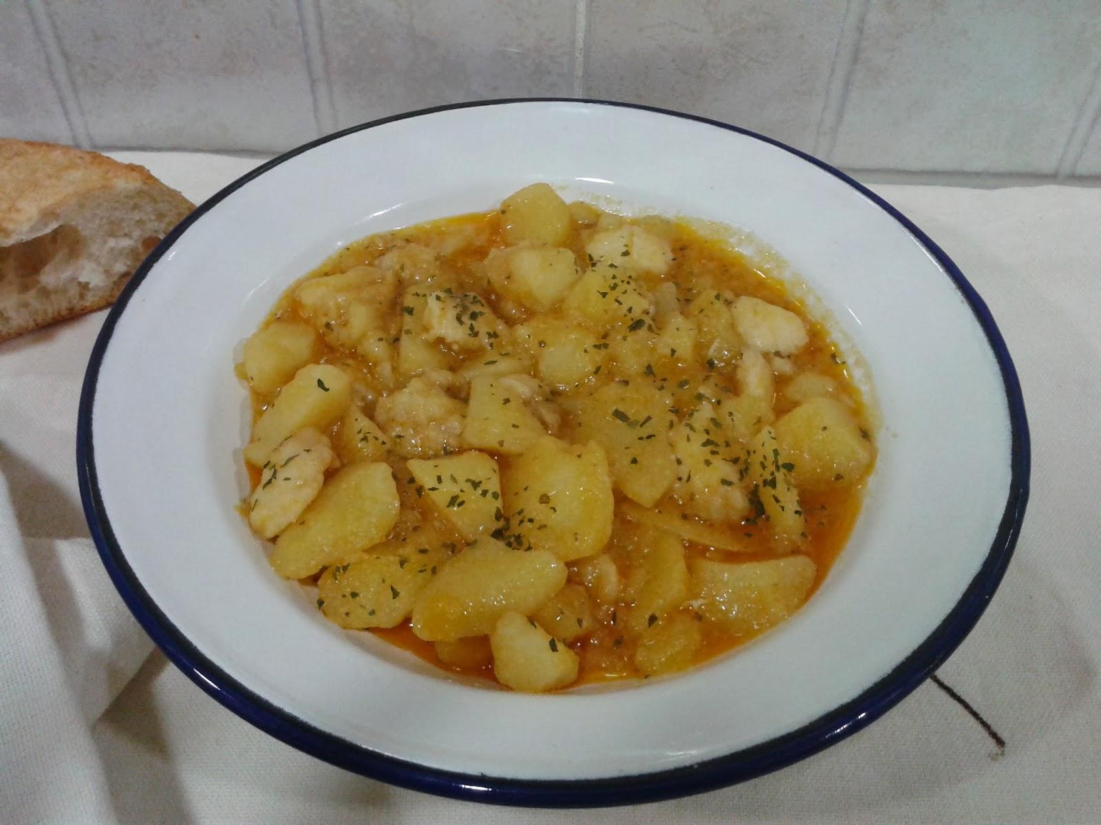 Recetas con encanto guiso de rape con patatas olla r pida - Patatas en olla rapida ...