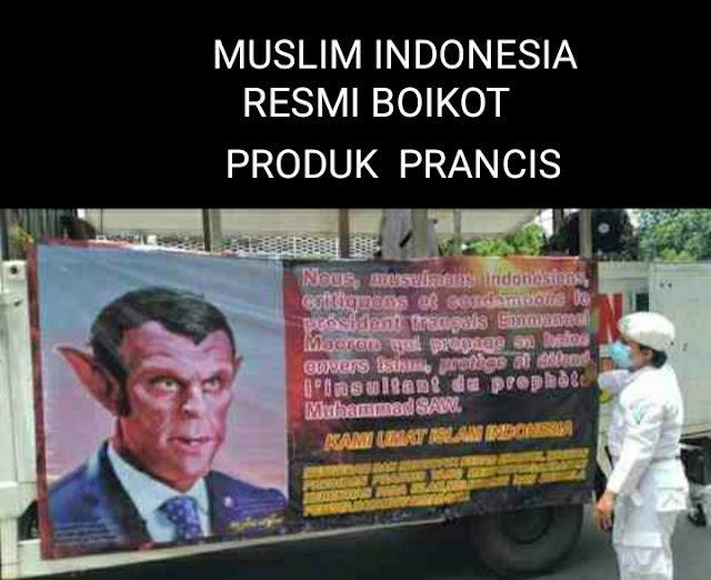 Agama Islam Indonesia Resmi Boikot Produk Prancis