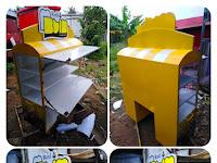 Gerobak motor roti Jasa pembuatan gerobak motor roda dua Rombong roti