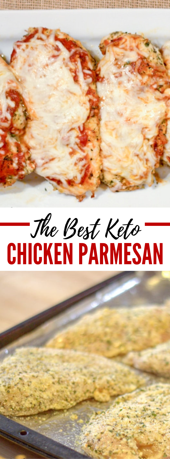 BAKED CHICKEN PARMESAN KETO LOW CARB GLUTEN-FREE #ketodiet #healthy