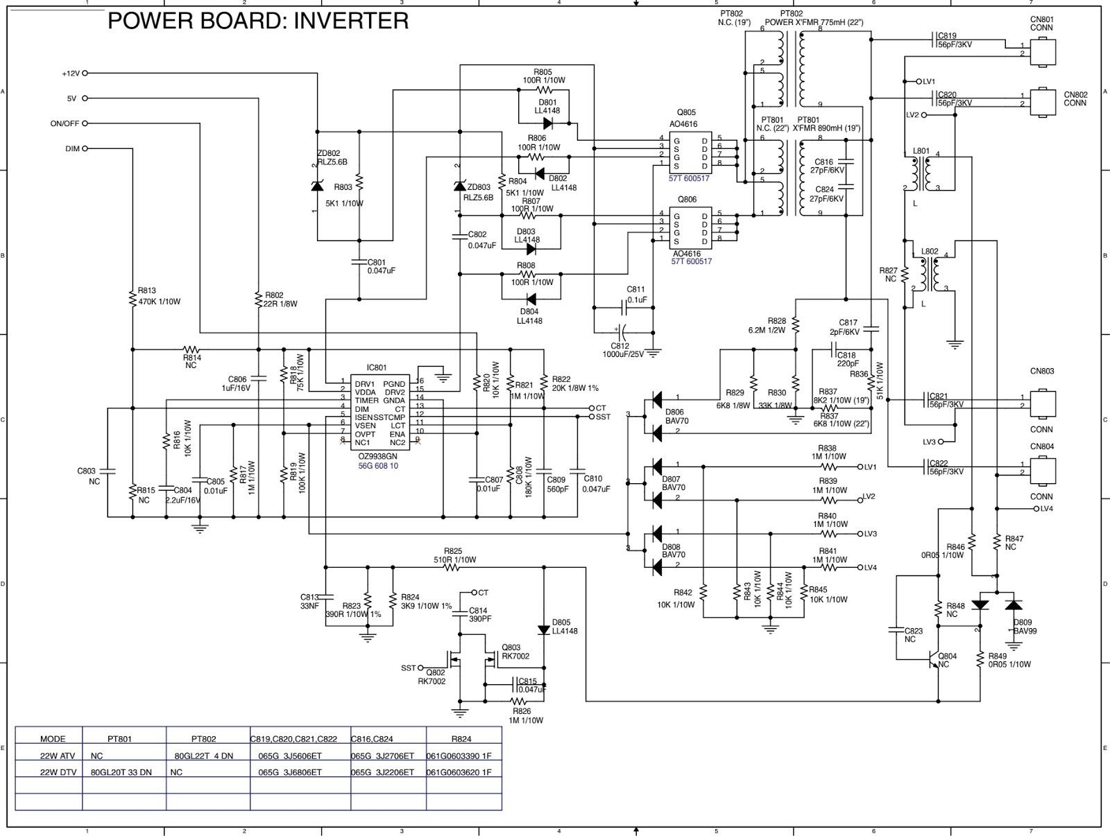 Philips 19pfl 10 Power Schematic