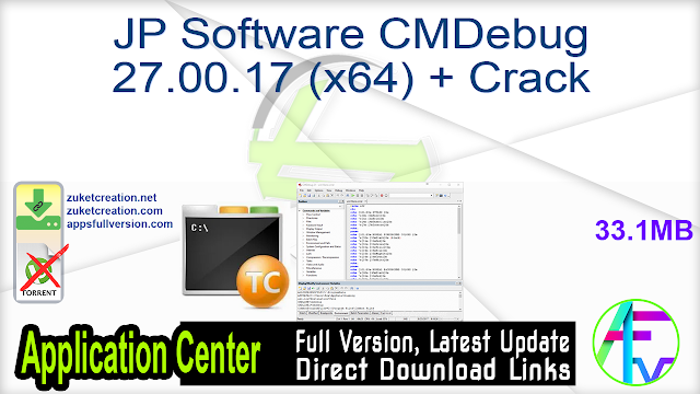 JP Software CMDebug 27.00.17 (x64) + Crack