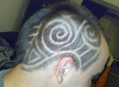 tato rambut samping keren