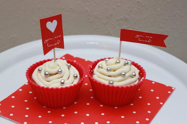 Cupcakes in Silikon-Muffinförmchen von Tchibo