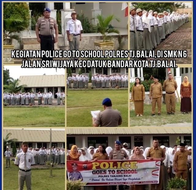 Police Go To School, KBO Satpolair Polres Tanjungbalai Sampaikan Pesan Kamtibmas Kepada Pelajar SMK N 6