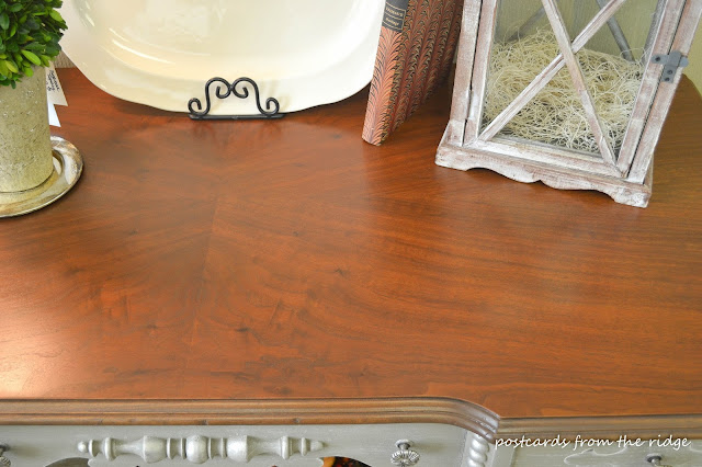 refinished antique desk top