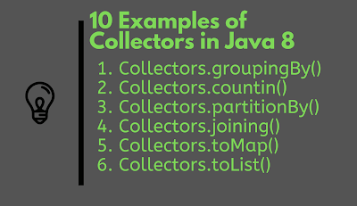 10 Examples of  Collectors and Stream in Java 8