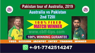 Who will win Today 2nd T20, Match Pak vs Aus , Cricket Win Tips