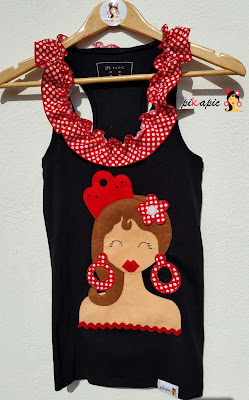 Camiseta flamenca amigas de la novia Pikapic