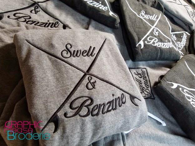Broderie Graphic Please, marquage sur textile: Sweat à