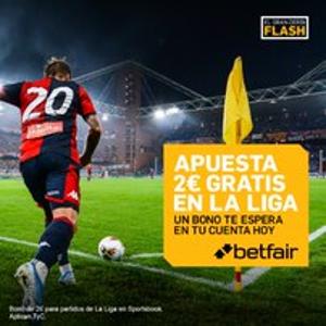 betfair tienes 2€ esperándote en tu cuenta para liga hasta 10-11-2019