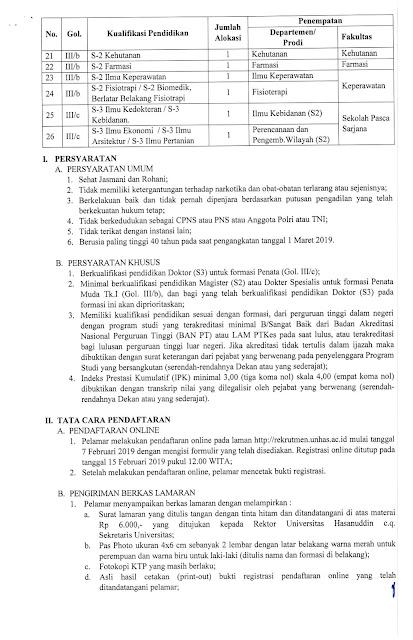 Lowongan Dosen dan Tenaga Kependidikan Februari 2019 (Update)