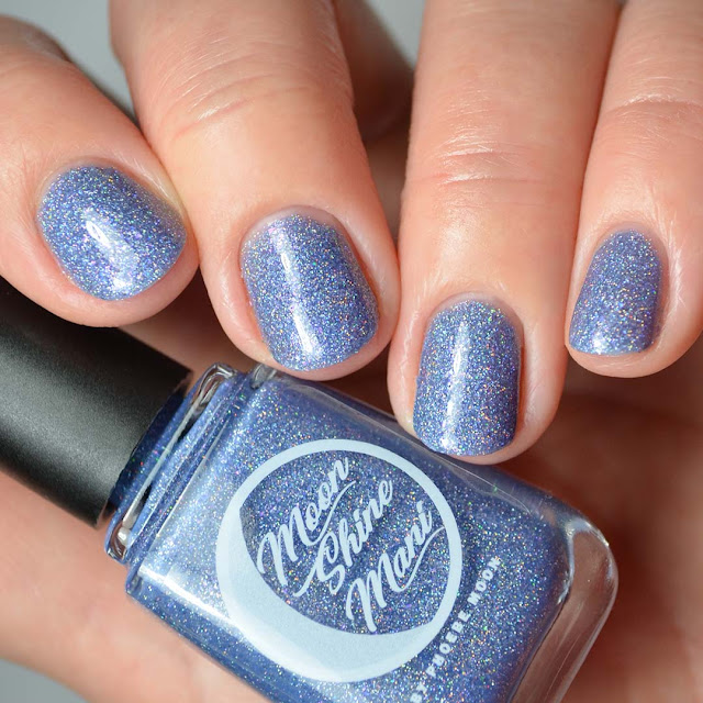 periwinkle holo nail polish swatch
