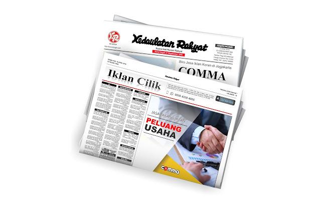 pasang iklan Peluang Usaha di koran Kedaulatan Rakyat