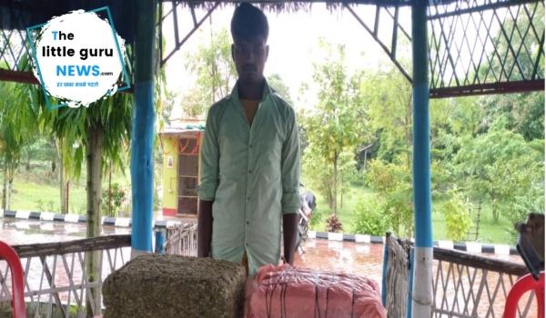 सीमावर्ती बिजबनी गाँव से 16 किलोग्राम गांजा के साथ एक युवक धराया