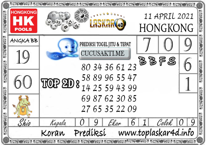Prediksi Togel HONGKONG LASKAR4D 11 APRIL 2021