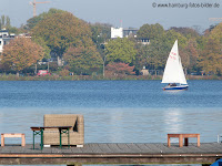 Picknick in Hamburg. Picknickplätze an der Alster.