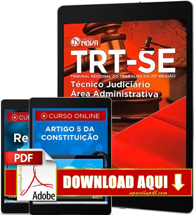 Apostila TRT 20 2016 Técnico Judiciário PDF Download