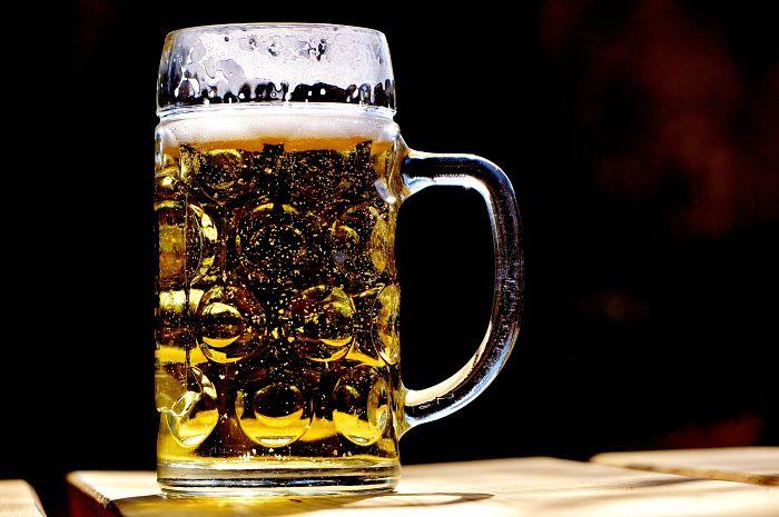 Chopp de cerveza rubia