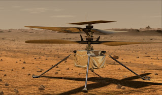 Helicopter flying in the planet Mars