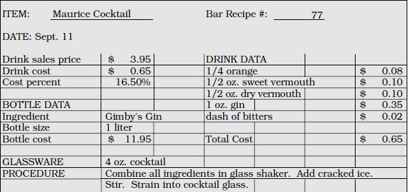 Standard Recipe Cards Oyle Kalakaari Co
