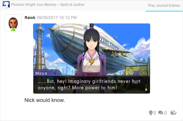 Phoenix Wright Ace Attorney Spirit of Justice imaginary girlfriends