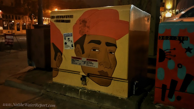 A man painted on a Normal Heights Electrical Box.