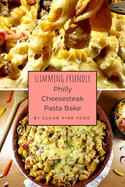 Philadelphia Cheesesteak Pasta Bake Recipe philly cheesesteak