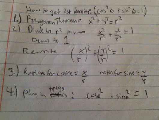 I/D #3: Unit Q Concept 1: Pythagorean Identities